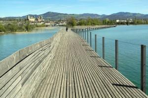 Puente de Rapperswil-Hurden (Suiza) , uno de los puentes más antiguos que quedan actualmente